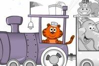 Kolorowanie pociągu ze zwierzętami