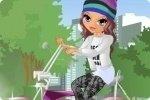Layla na rowerze