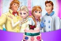Tort weselny z Krainy lodu